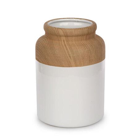 Altom Porcelánová váza Wood, 10 x 15 cm