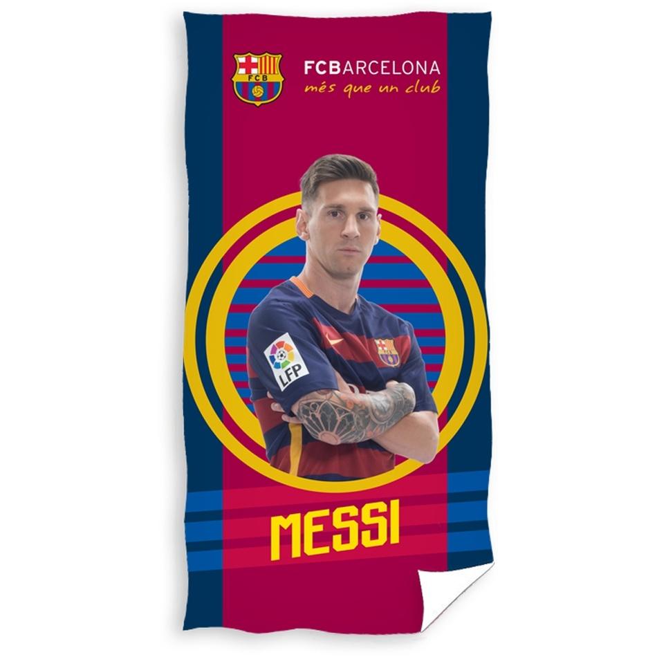 CARBOTEX Osuška Barcelona Messi bavlna froté 70 x 140 cm