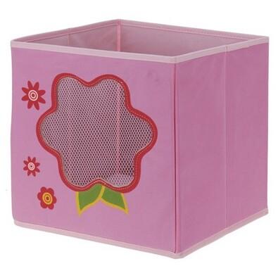 Cutie textilă pentru depozitare Floare, 28 x 28 x  28 cm