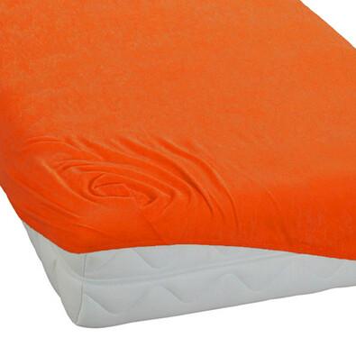 BedTex froté prostěradlo oranžová, 90 x 200 cm