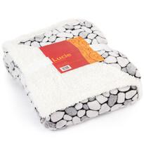 Baránková deka Lucie sivá, 150 x 200 cm