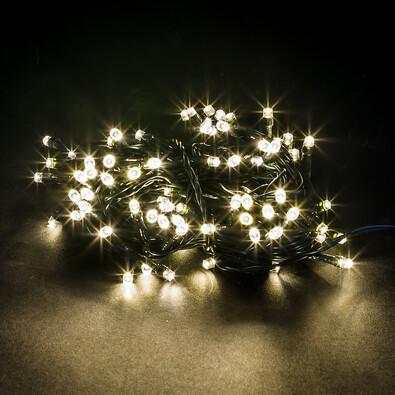 Vánoční světelný řetěz, bílý, 80 LED