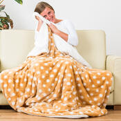 4Home beránková deka Puntík béžová, 150 x 200 cm