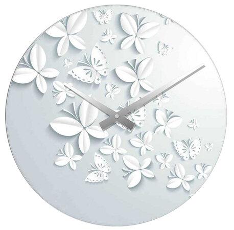 Nástenné hodiny Motýlek 34 cm