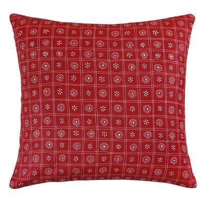 Polštářek Rita Čtverce červená, 40 x 40 cm