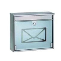 Stalowa skrzynka pocztowa z hartowanym szkłem