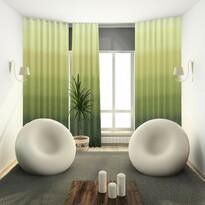 Závěs s kroužky Darking zelená, 140 x 245 cm