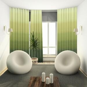 Forbyt Závěs s kroužky Darking zelená 150 x 245 cm