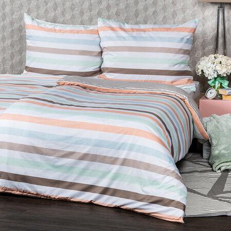 4home Obliečky Pastel Stripes micro, 140 x 200 cm, 70 x 90 cm