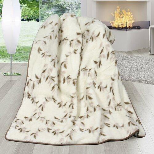 Bellatex Vlněná deka DUO Australské merino Svlačec, 155 x 200 cm