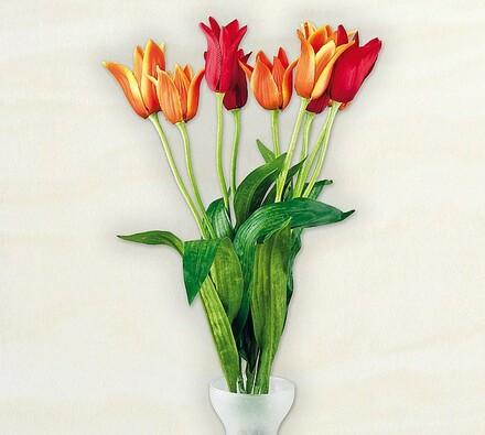 Umělé květiny tulipány, 5 ks