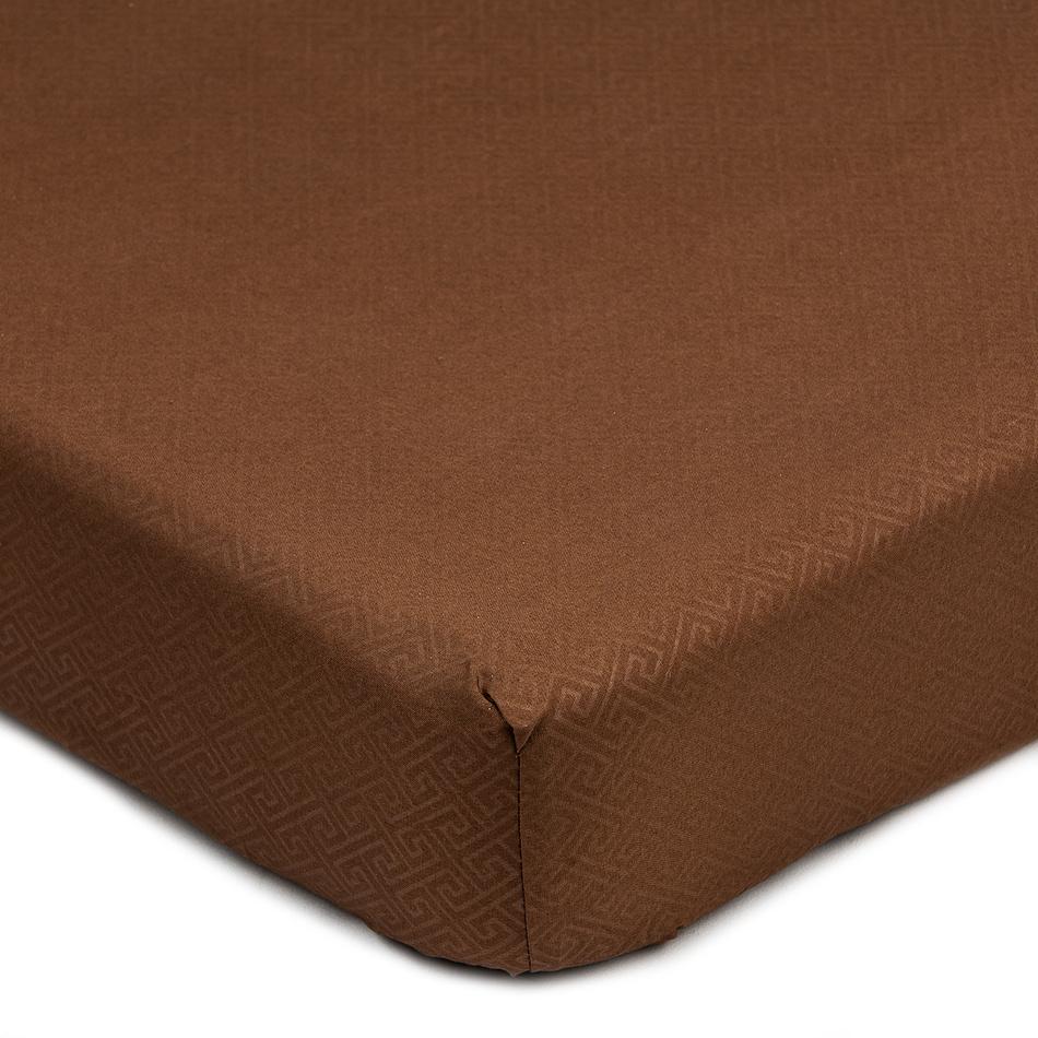 Prześcieradło Elisa mikrowłókno brązowy, 90 x 200 cm, 90 x 200 cm