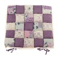Prošívaný sedák Kostky fialová, 40 x 40 cm