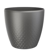 Perla műanyag kaspó, 25 cm, antracit