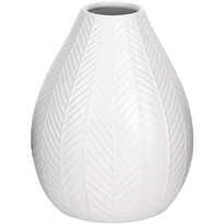 Vază ceramică Koopman Montroi albă, 15,5 cm