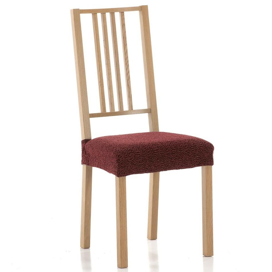 Husă elastică de șezut scaun Petra, roșu, set 2 buc. imagine 2021 e4home.ro