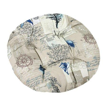 Sedák Gita prešívaný okrúhly More, 40 cm