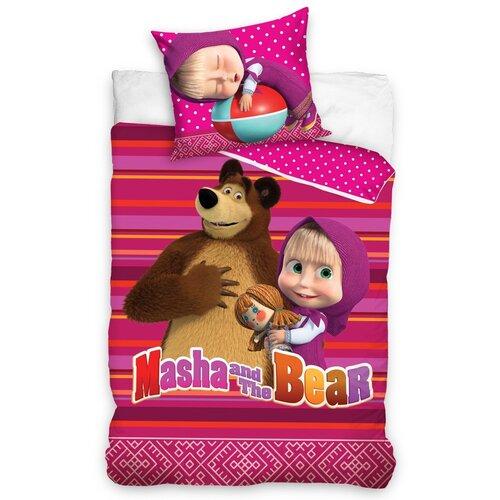 Dziecięca Pościel bawełniana Masza i niedźwiedź, 140 x 200 cm, 70 x 80 cm
