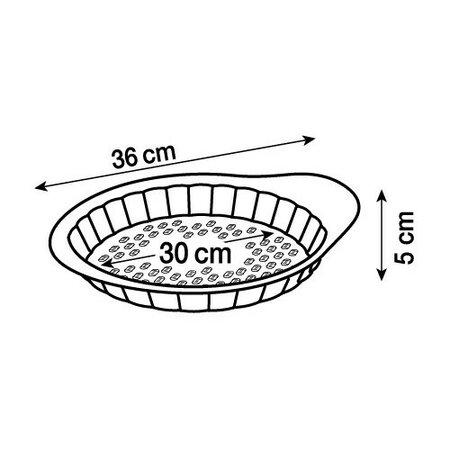 Pyrex Forma na ciasto z uchwytem, śr. 30 cm