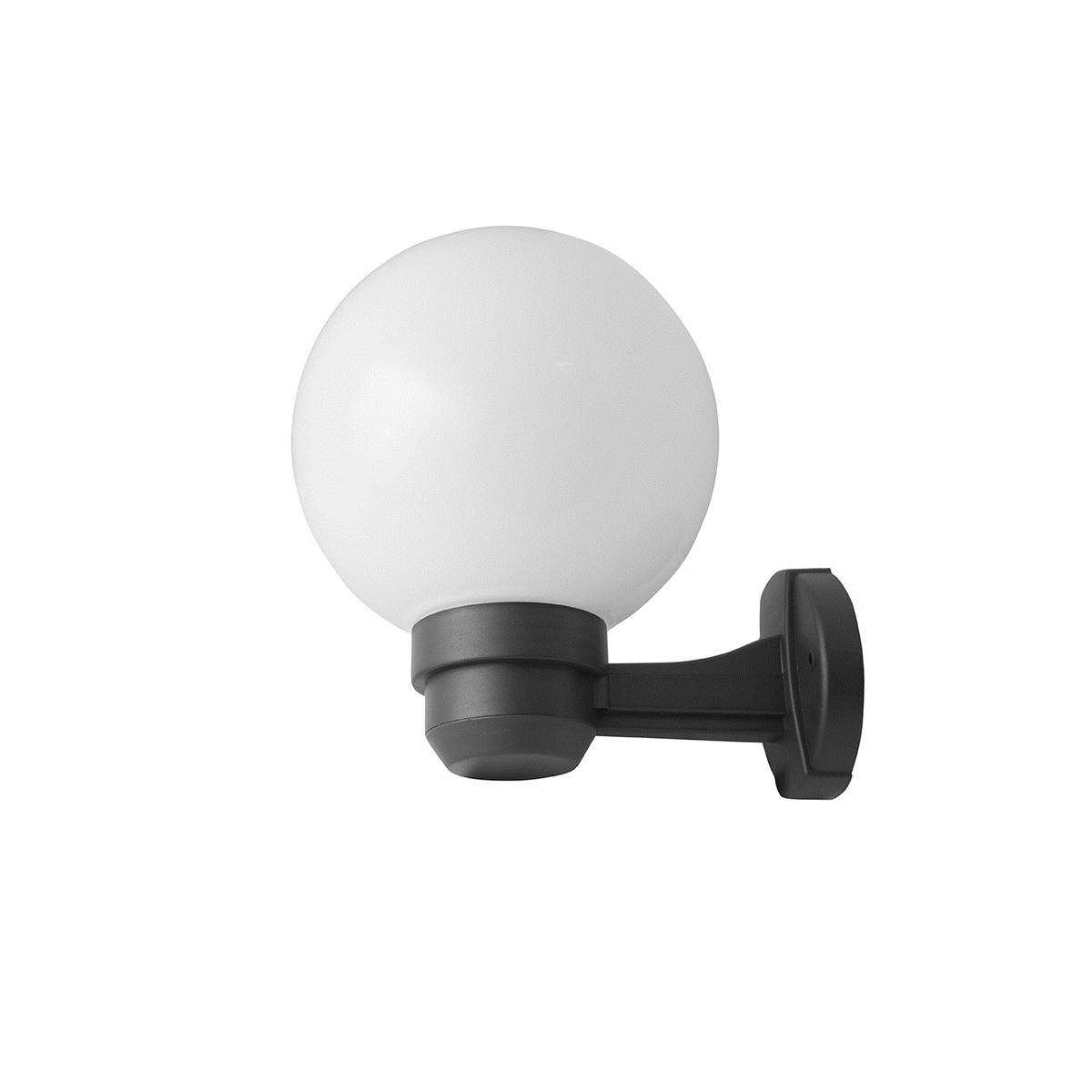 PARK S zahradní nástěnné svítidlo se senzorem černá prizmatická kouřová, Panlux