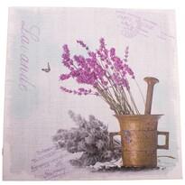 Levendula mozsárban vászonkép, 28 x 28 cm