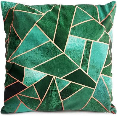 Poszewka na poduszkę Diamant zielony, 40 x 40 cm