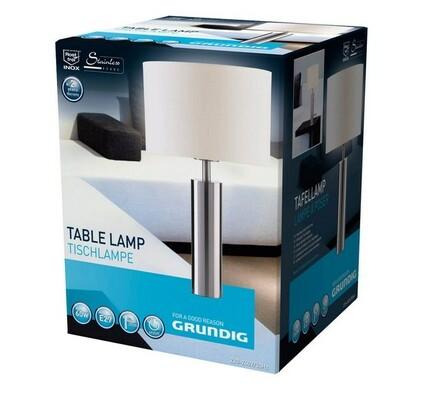 Stolní lampa Grundig 39 cm, bílá + chrom