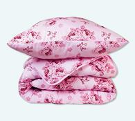 Sada přikrývky a polštáře, růžová