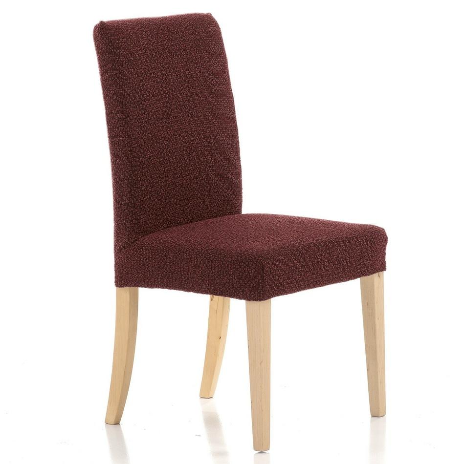 Husă elastică de scaun Petra, roșu, 40 - 50 cm, set 2 buc. imagine 2021 e4home.ro