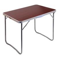 Cattara Kempingový skladací stôl Balaton, hnedá