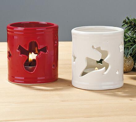 Sada svícnů na čajovou svíčku - sob a anděl, vále