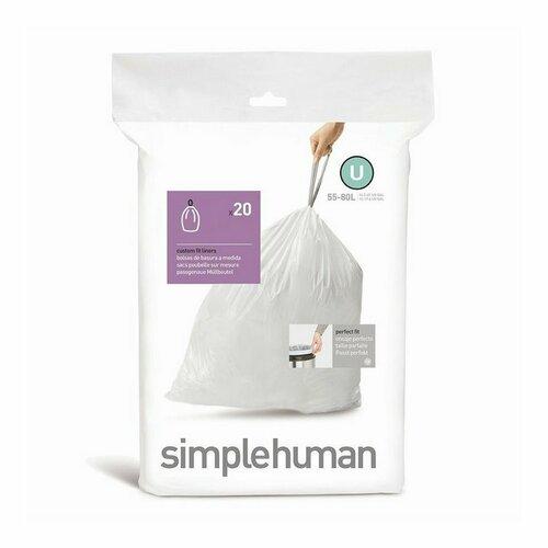 Simplehuman Vrecká do odpadkového koša U 55-80 l, 20 ks