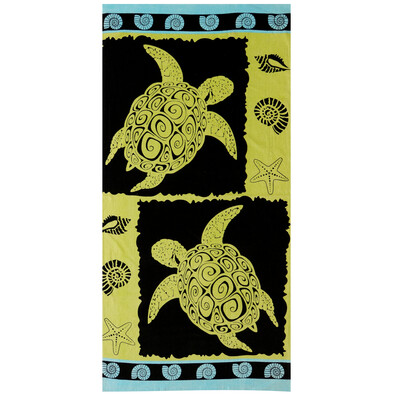 Plážová osuška The turtles, 71 x 148 cm