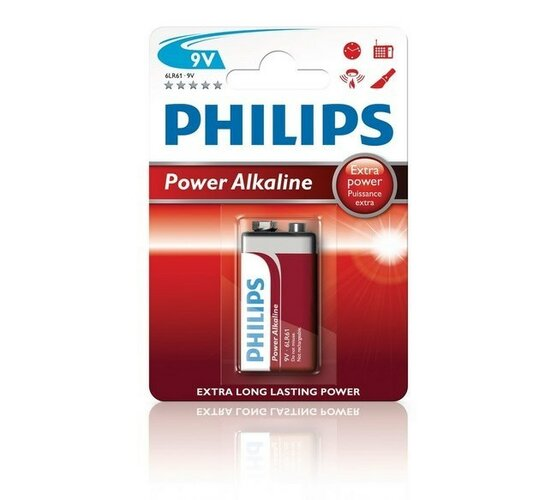 Baterie Philips Power Alkaline 9 V, 1 ks