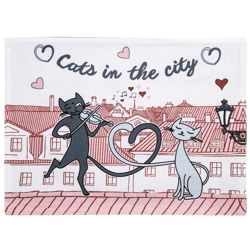 Trade Concept Prostírání Kočky ve městě, 33 x 45 cm