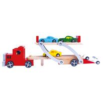 Bino Ciężarówka z lawetą i autami