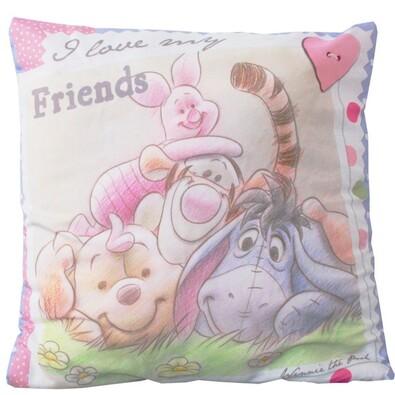 Polštářek Winnie the Pooh Friends, 40 x 40 cm