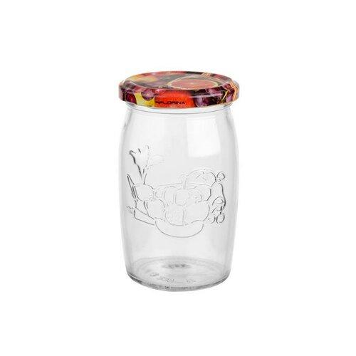 6-dielna sada zaváracích pohárov s viečkom Ovocie, 355 ml