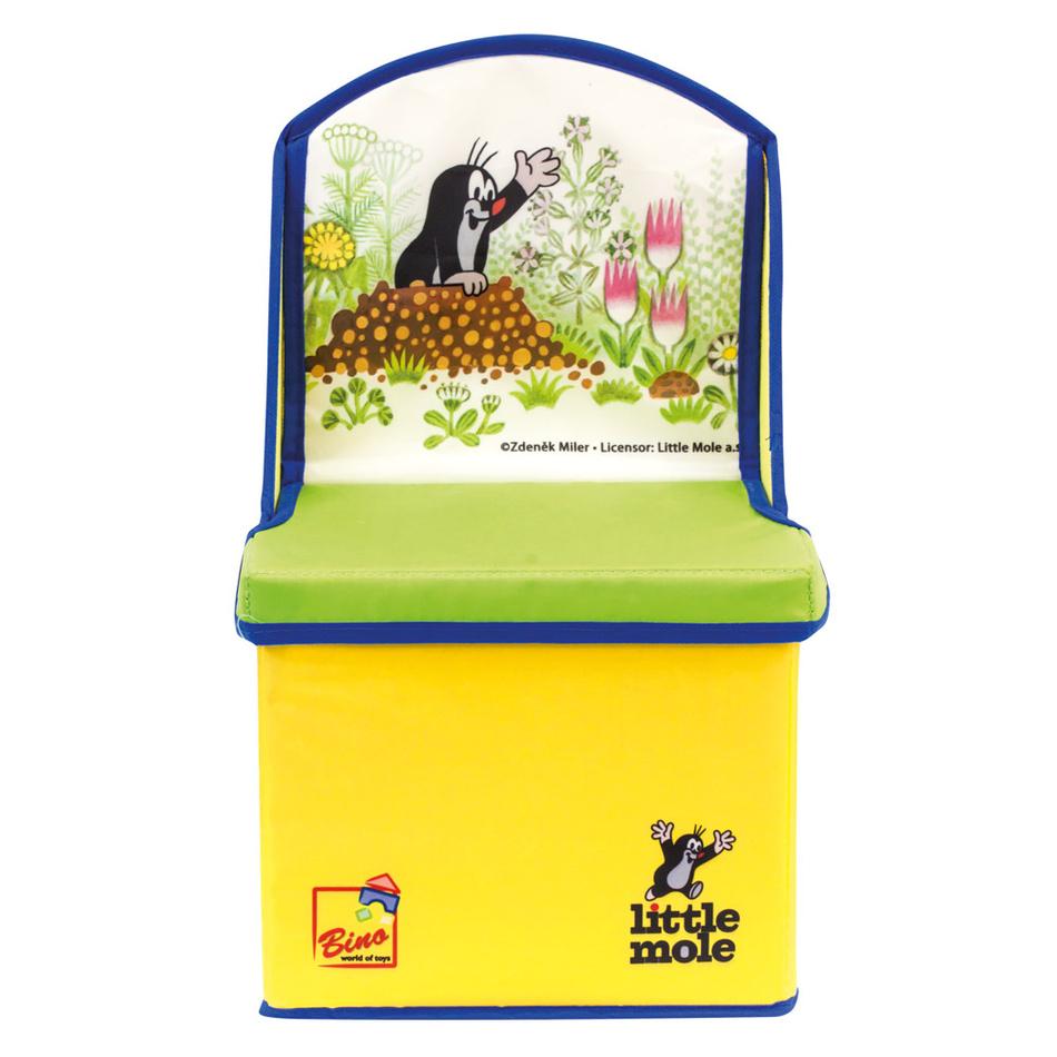Fotografie Bino Krteček 2v1 box na hračky/židle