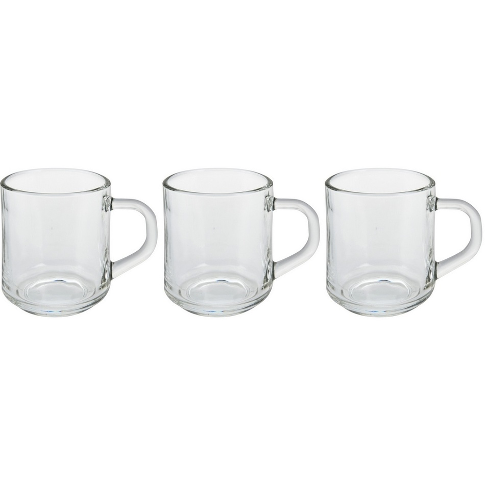 Sada skleněných šálků na kávu Excellent 240 ml, 3 ks