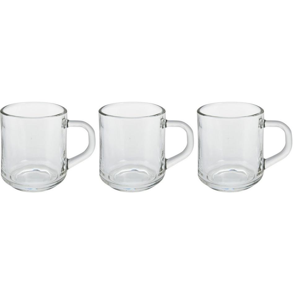 Sada sklenených šálok na kávu Excellent 240 ml, 3 ks