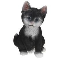 Decorațiune de grădină Koopman Pisică, negru