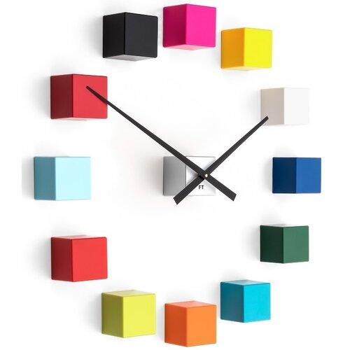 Future Time FT3000MC Cubic multicolor Designové samolepiace hodiny, pr. 50 cm