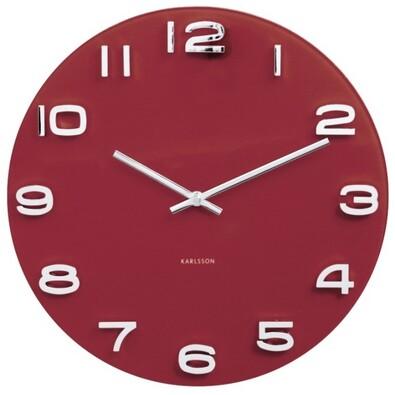 Karlsson 5640RD Designové nástěnné hodiny, 35 cm