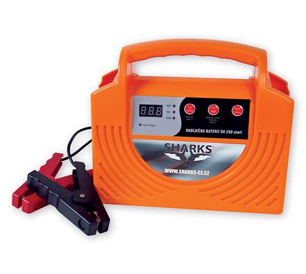 Nabíječka autobaterií, 290 START, Sharks, oranžová