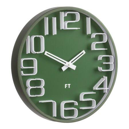 Future Time FT8010GR Numbers Designové nástenné hodiny, pr. 30 cm