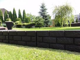 Palisadă - bordură de grădină, maro, 2,2 m