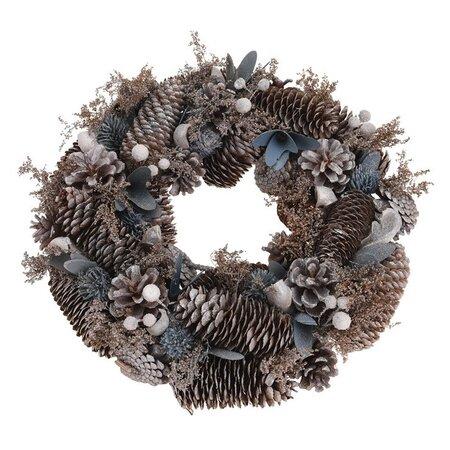 Vánoční věnec Tollo šedá, pr. 33 cm