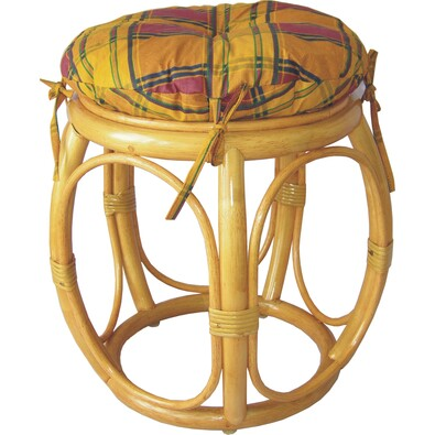 Ratanová taburetka