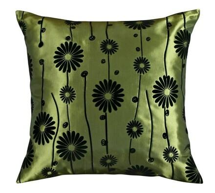 Polštářek Dora zelená, 45 x 45 cm